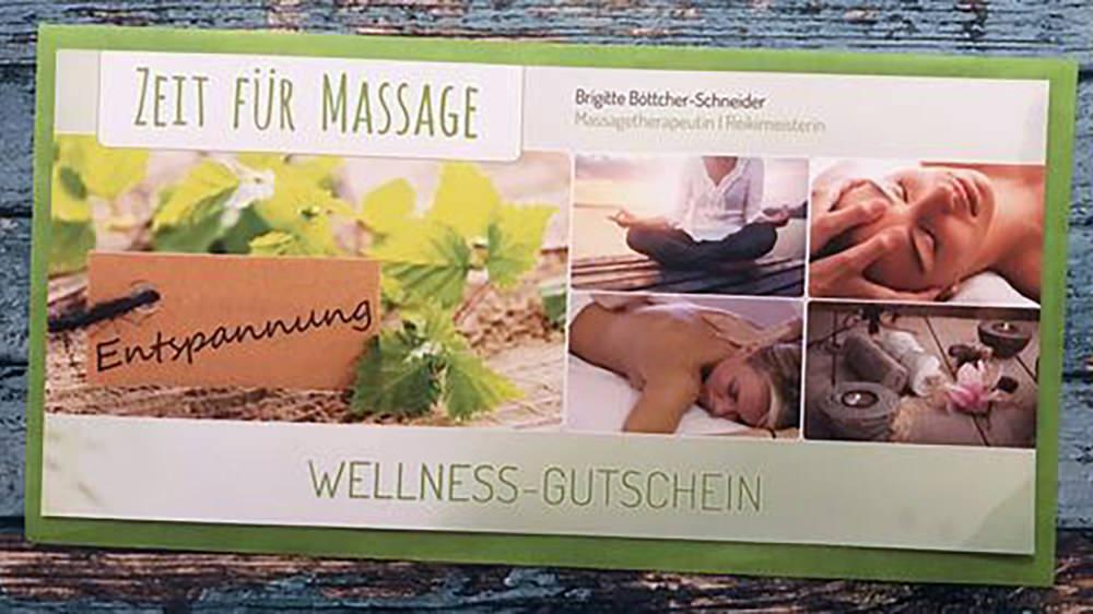 Massage Gutschein, eine tolle Geschenkidee